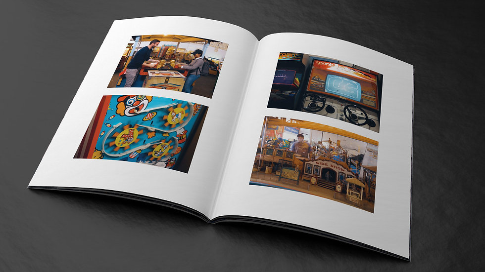 Pictures from the Musée Mécanique in SF, in a print magazine design