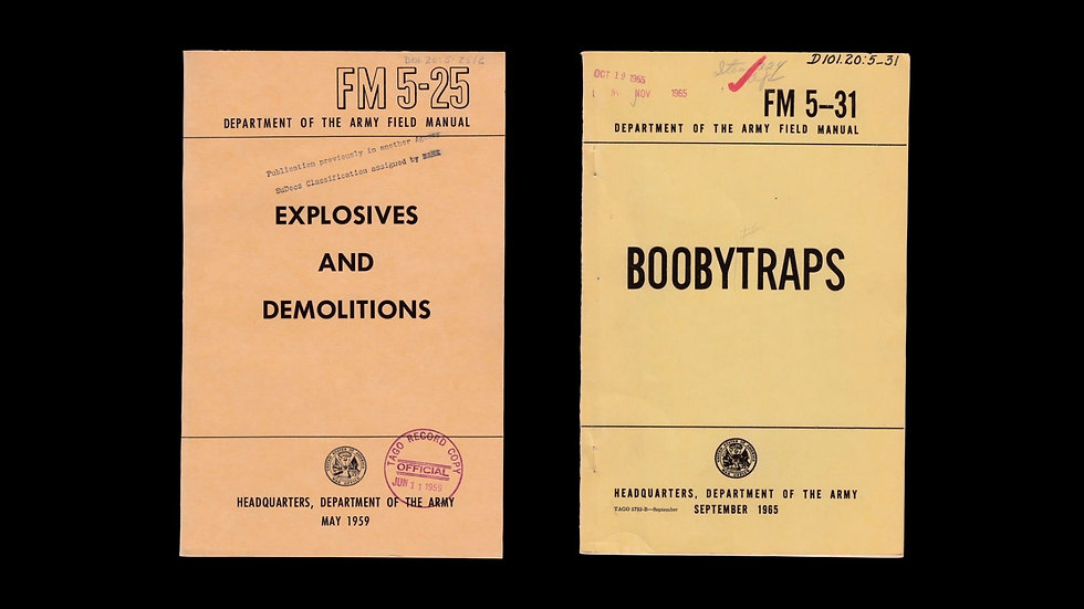 """Military field manuals from the documentary film """"American Anarchist"""""""