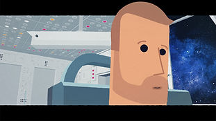 Astronaut in space ship from Nebula One animation
