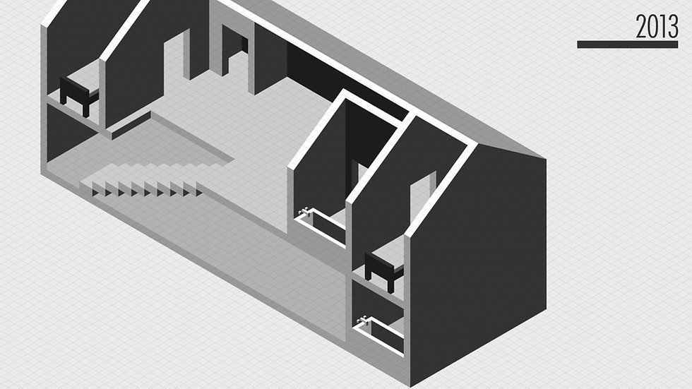 Isometric drawing of a house
