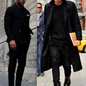 Street Style:  Men in black