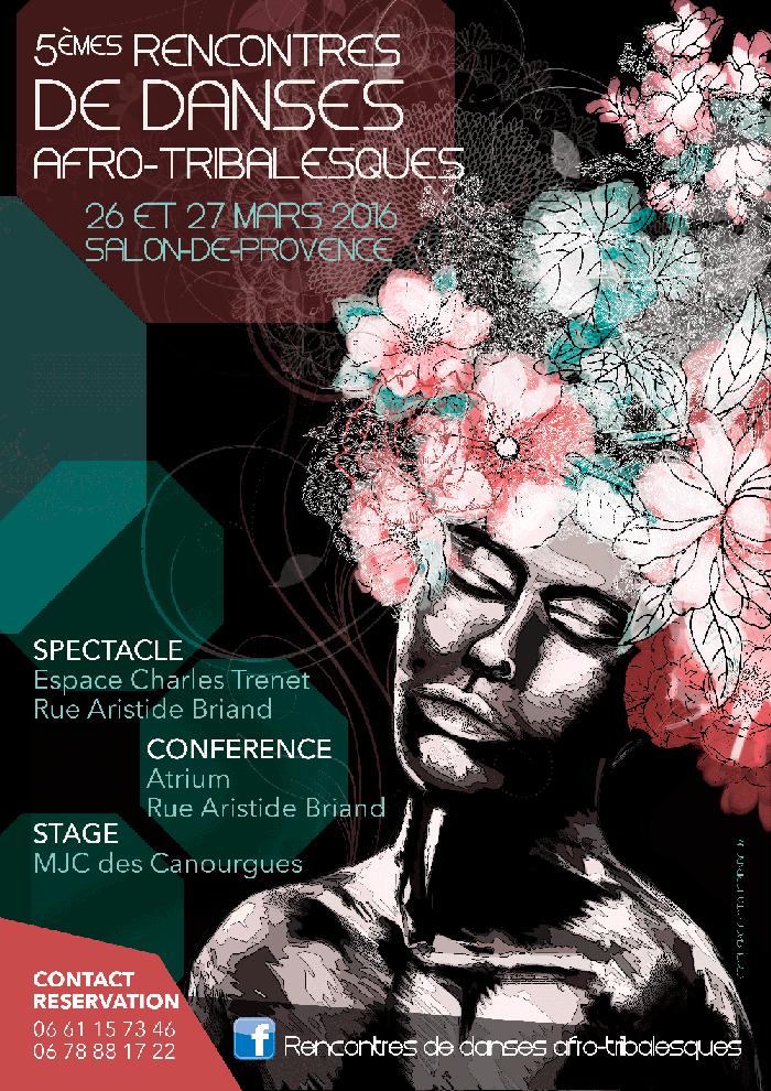 Affiche cinquièmes rencontres Afro-Tribalesques