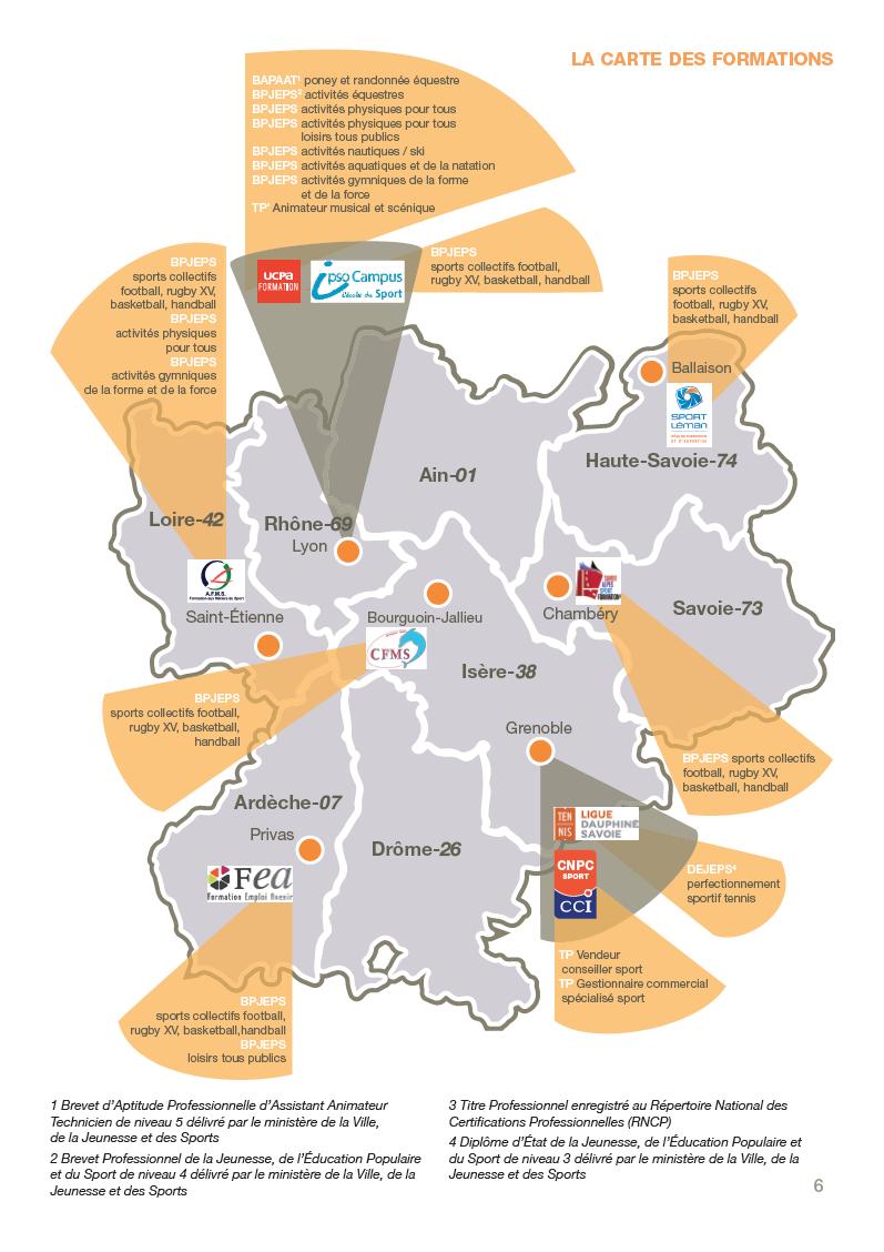 carte des activités du CFA