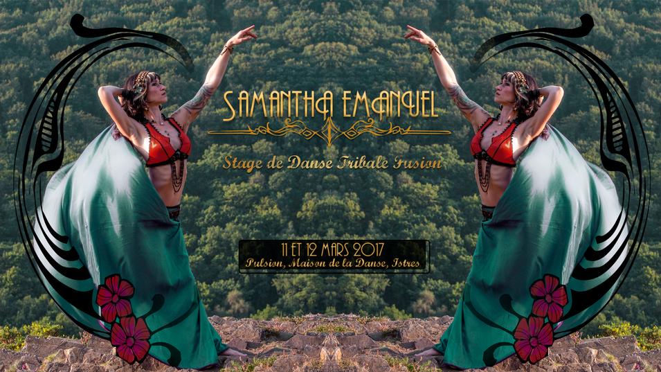 Banderolle du stage Samantha Emanuel