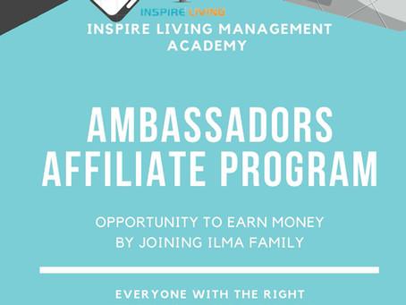Inspire Living Helping Hands - Ambassadors Affiliate Program