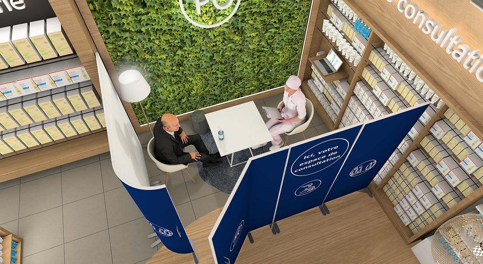 Design d'espace - Corner de consultation