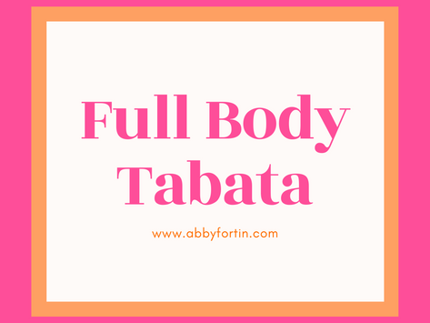 workout with me — my fav full body tabata