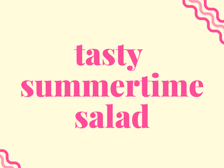 tasty summertime salad recipe