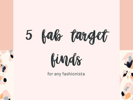 5 fab target finds for any fashionista