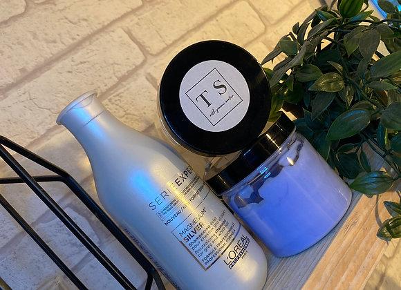 Toner Pots and Silver shampoo combo
