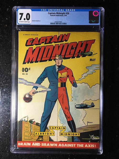 Captain Midnight #20 CGC 7.0