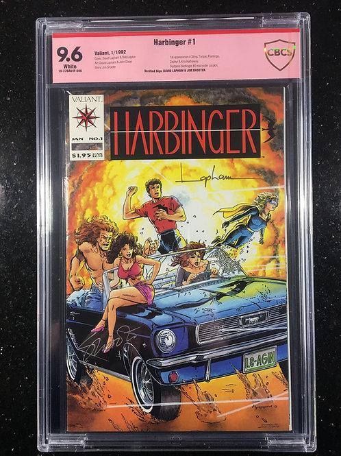 Harbinger #1 CBCS 9.6 SS Jim Shooter & David Lapham