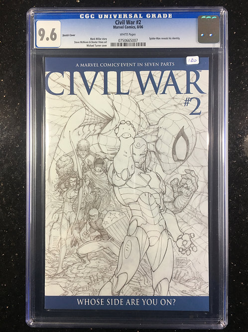 Civil War #2 Turner Sketch Variant CGC 9.6