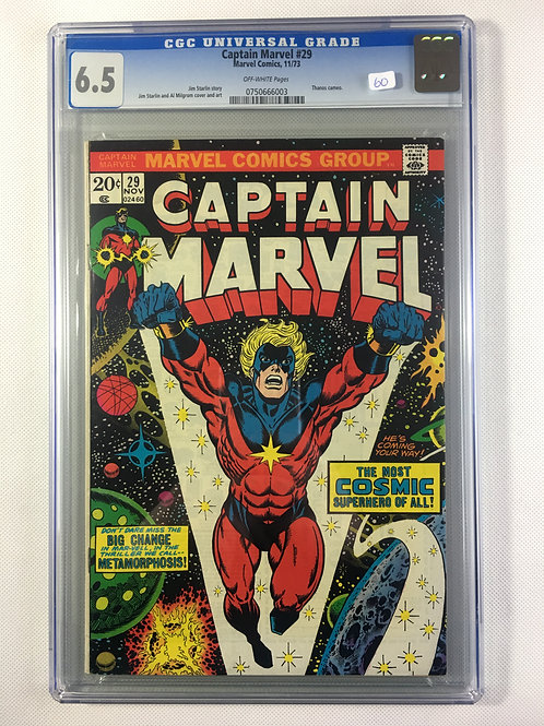 Captain Marvel #29 CGC 6.5