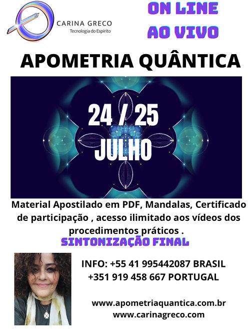 APOMETRIA QUÂNTICA 24/25 de JULHO 2021