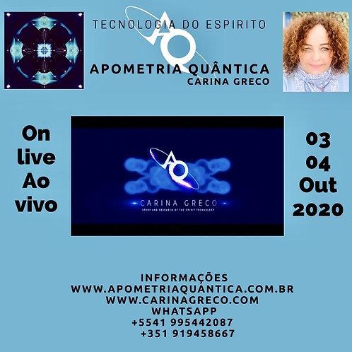 APOMETRIA QUÂNTICA MODULO TECNOLOGIA DO ESPÍRITO 03 /04 de OUTUBRO ON LINE