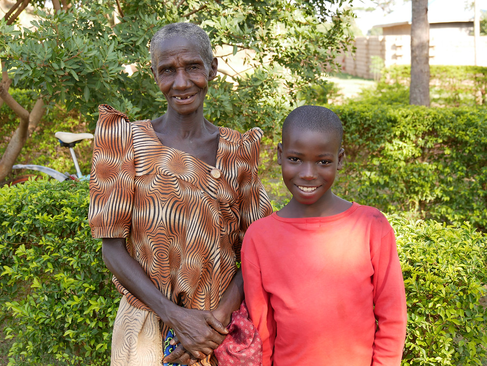 Emmanuel and his grandmother who is caring for him