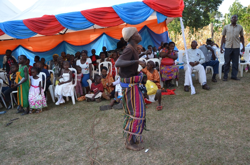 Children enjoying their celebrations by dancing the traditional Kisoga dance