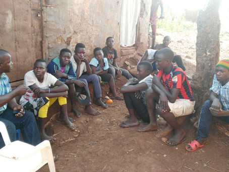 Street children forming family teams