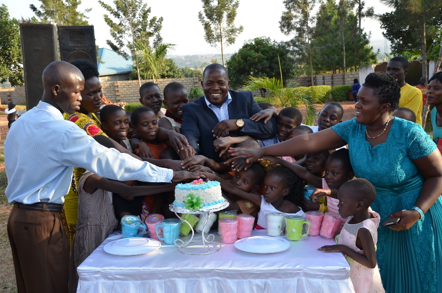 Children and Ring Of Hope staff and the chief guest participating in the cutting of the Xmas and New year party cake :)