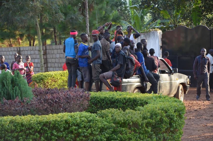 Street children arriving at Ring Of Hope Center for the celebration
