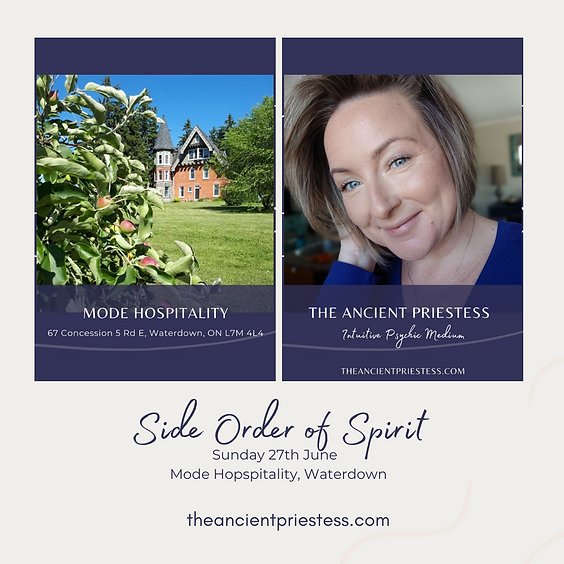 A Side Order of Spirit - 27th June at 4pm