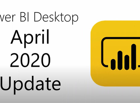 Power BI Desktop Update 04/2020