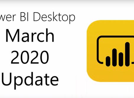Power BI Desktop Update 03/2020