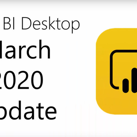 Power BI Desktop Update 03/2020