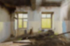 Павел Отдельнов. Руины гостиницы ИТР.