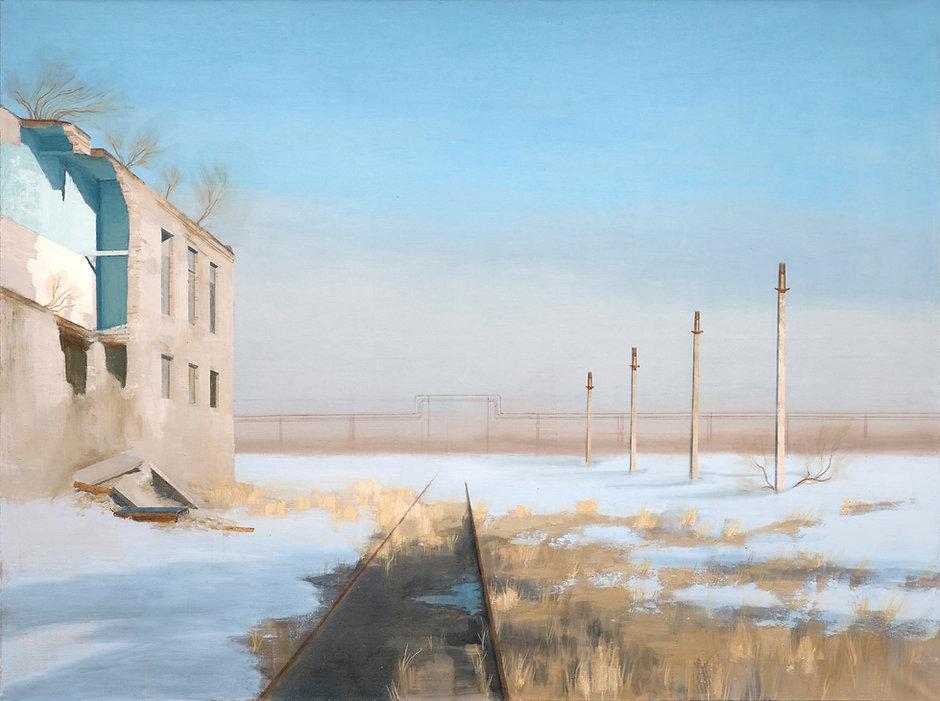 Pavel Otdelnov. Ruins. Spring day.
