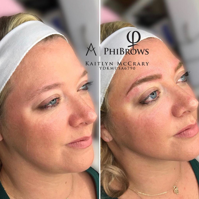 Eyebrow Microblading and Eyebrow Shading done by Kaitlyn | Ink Lash and Brow | Pewaukee WI