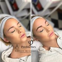 Super defined Shaded (Microbladed, Microshaded) brows at Ink Lash and Brow | Pewaukee WI