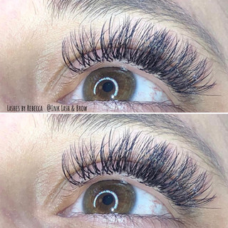 Lovin these Lash Extensions by Rebecca | Ink Lash and Brow | Pewaukee, WI