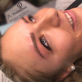 Beautiful Microbladed Brows at Ink Lash and Brow Pewaukee WI