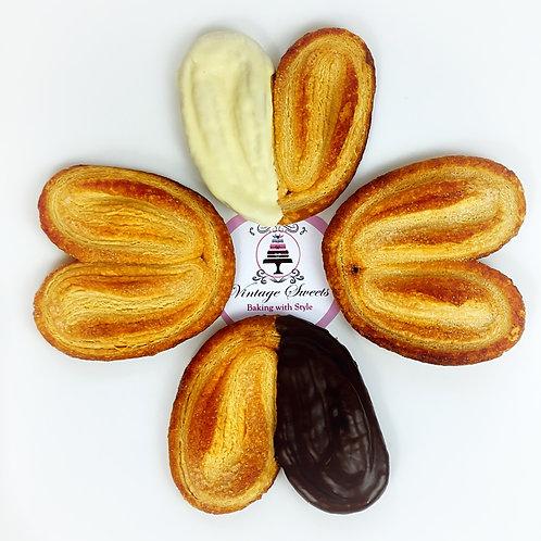 6 Palmeras con chocolate blanco o negro