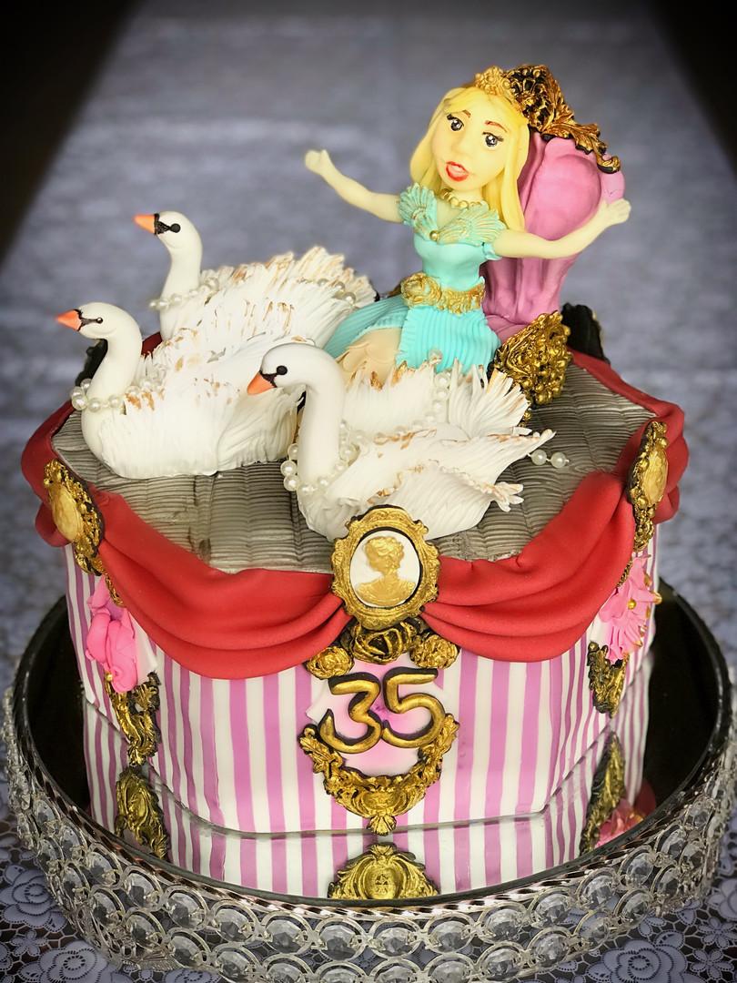 35 Ballet Le Blanche Anniversary Cake