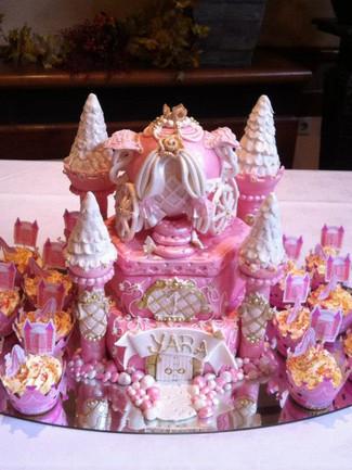 Princess Castle Cake and Cupcakes