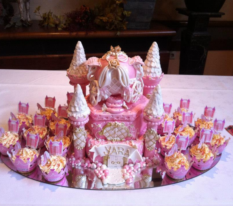 Princess Castle Cake and Cupcakes