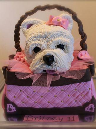 Cute Dog in a Handbag