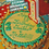 Paw print birthday dog cake.