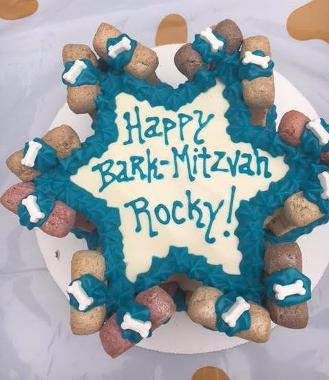 BARK Mitzvah Dog Cake 4 or 6 Dog drawing optional Cakes For