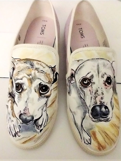 Hand painted canvas sneakers (includes sneakers)