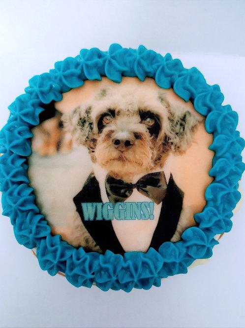 ONE Jumbo photo image dog cupcake