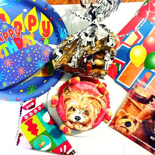 Puppy party package plus a hand painted cake included!
