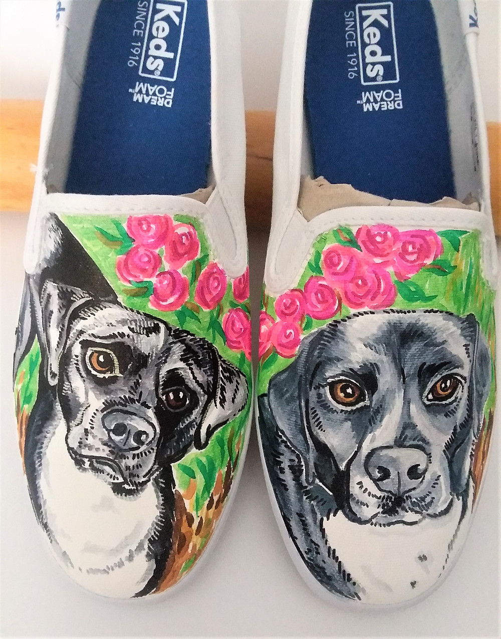 painted sneakers, dog art, cakes for dogs, dog birthday cakes,