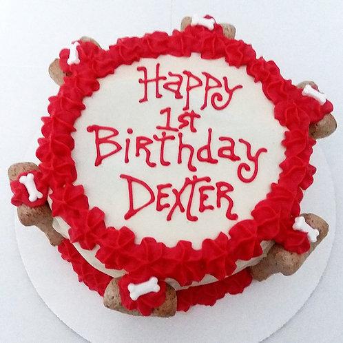 """""""Happy Birthday/Gotcha Day Dog Cake"""""""