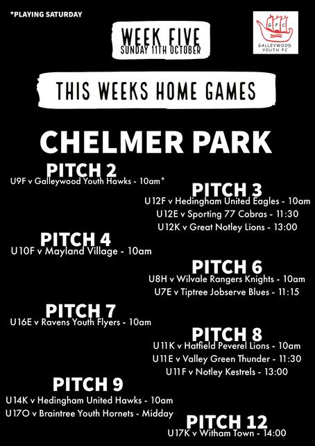WEEK FIVE GAMES