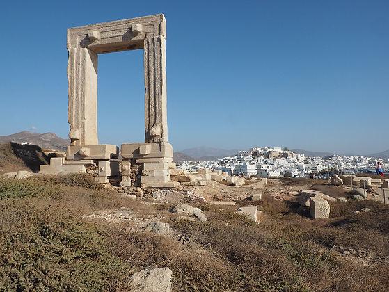 Greek Pavilion Gates of Poseidon in isla