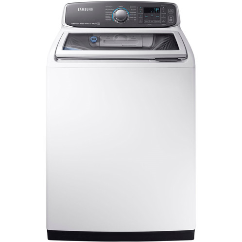 Samsung 5 2 cu ft Top Load Washer with Active Wash (WA52M7750AW) White